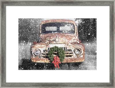 International Christmas Snow Framed Print by Benanne Stiens