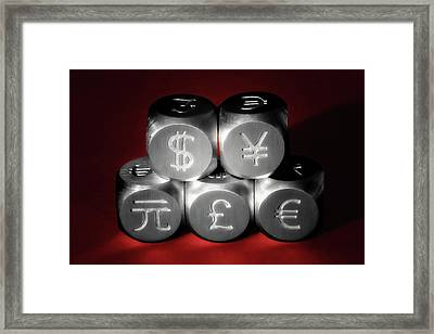 International Currency Symbols II Framed Print