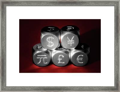 International Currency Symbols II Framed Print by Tom Mc Nemar