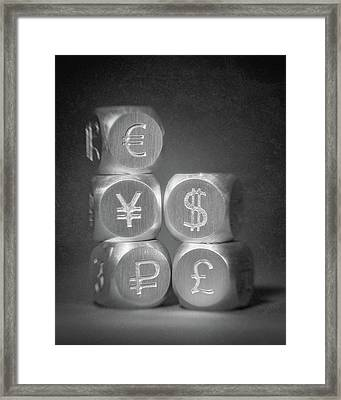 International Currency Symbols Framed Print