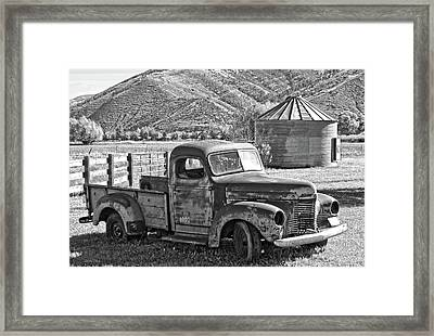 International Farm Bw Framed Print by David King