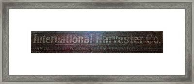 International Harvester Co. Framed Print by Jame Hayes