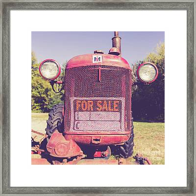 Framed Print featuring the photograph International Harvester Farmall Cub Vintage Tractor by Edward Fielding