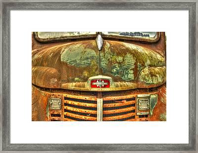 International Harvester Hood Framed Print