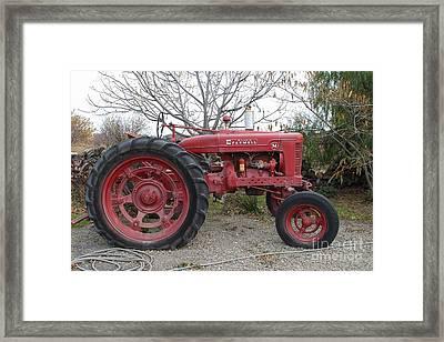 International Harvester Mccormick Farmall Farm Tractor . 7d10320 Framed Print by Wingsdomain Art and Photography