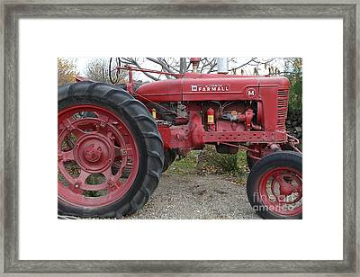 International Harvester Mccormick Farmall Farm Tractor . 7d10323 Framed Print by Wingsdomain Art and Photography