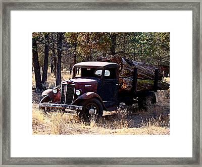 International Log Truck Framed Print