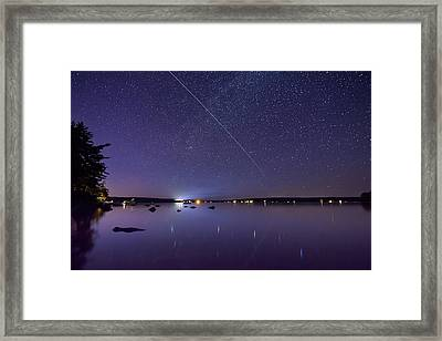 Framed Print featuring the photograph International Space Station Over Branch Lake by Kirkodd Photography Of New England