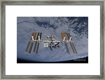 International Space Station Set Framed Print by Stocktrek Images