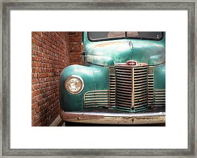 Framed Print featuring the photograph International Truck 2 by Heidi Hermes