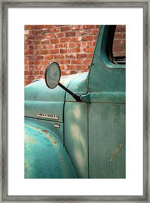 Framed Print featuring the photograph International Truck Side View by Heidi Hermes