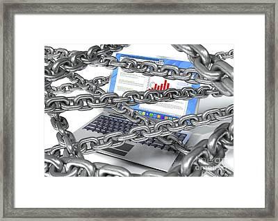 Internet Censorship, Artwork Framed Print by David Mack