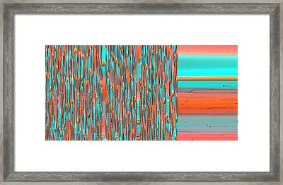 Interplay Of Warm And Cool Framed Print