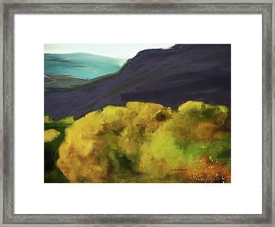 Interpretation Of Wyoming Autumn Framed Print