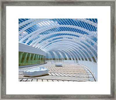 Intersecting Lines - Pastels Framed Print