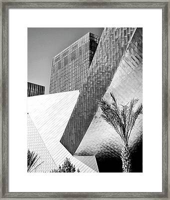 Intersection 1 Bw Las Vegas Framed Print by William Dey