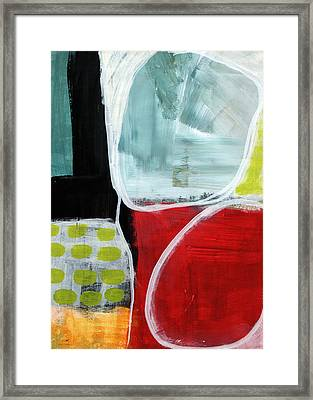 Intersection 37- Abstract Art Framed Print by Linda Woods