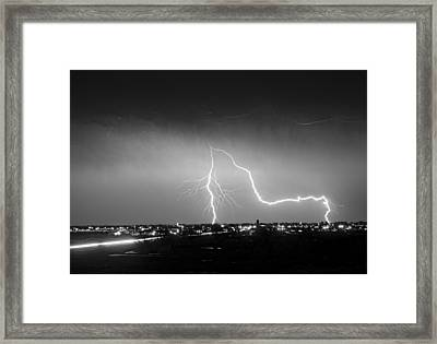 Intersection Black And White Framed Print by James BO  Insogna