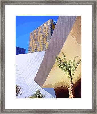 Intersection Number One Las Vegas Framed Print by William Dey
