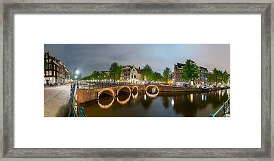 Intersection Of Keizersgracht Framed Print by Panoramic Images
