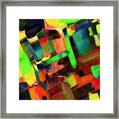 Intersection Framed Print by Stacey Chiew