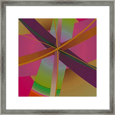Intersections Framed Print by Bonnie Bruno