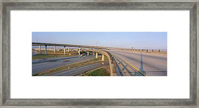 Interstate 10 And 15 In California Framed Print by Panoramic Images