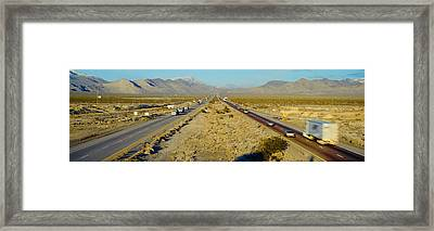 Interstate 15, Near Las Vegas, After Framed Print by Panoramic Images