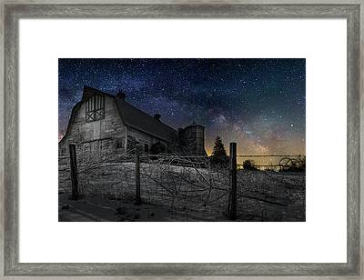 Framed Print featuring the photograph Interstellar Farm by Bill Wakeley