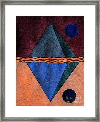 Interstellar Geometry Framed Print by Norma Appleton