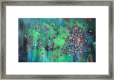 Framed Print featuring the painting Interstellar, I Want To Paint It Black by Laurie Maves ART
