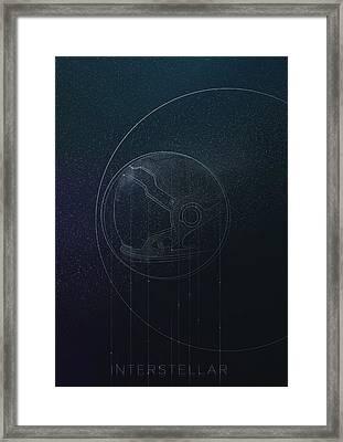 Interstellar Movie Poster Framed Print