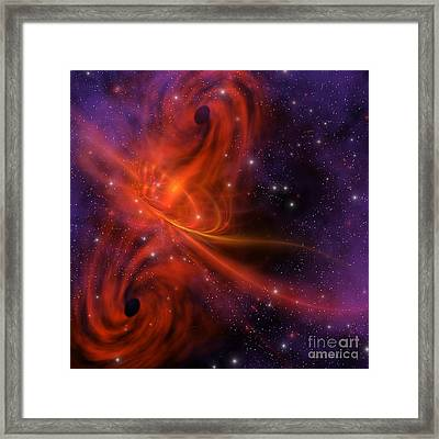 Interstellar Twister Framed Print