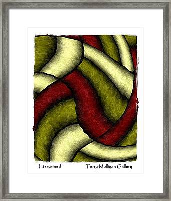 Intertwined Framed Print by Terry Mulligan
