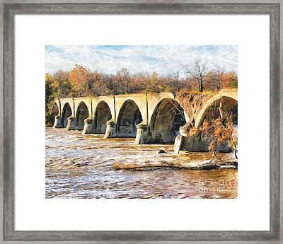 Interurban Bridge Framed Print