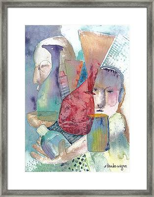 Intervention In Abstract Framed Print by Arline Wagner