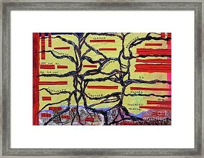 Interwoven Framed Print by Sharon Eng
