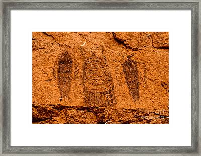 Intestine Man Pictograph - Moab - Utah Framed Print