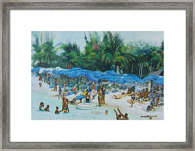 Intimacy On Vacation Framed Print by Howard Stroman