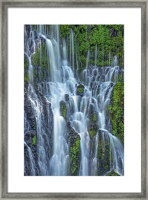 Framed Print featuring the photograph Intimate Burney Falls by Patricia Davidson