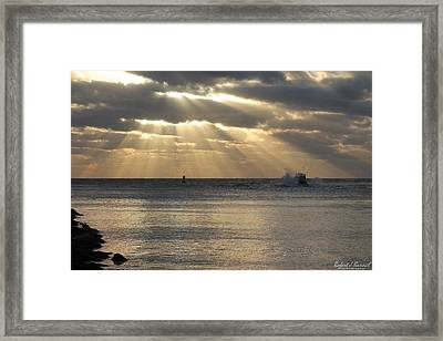 Into Dawn's Early Rays Framed Print
