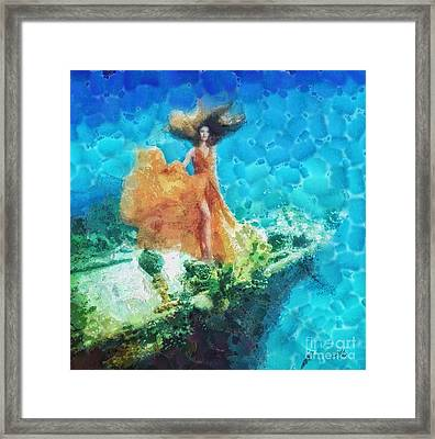 Into Deep Framed Print by Mo T