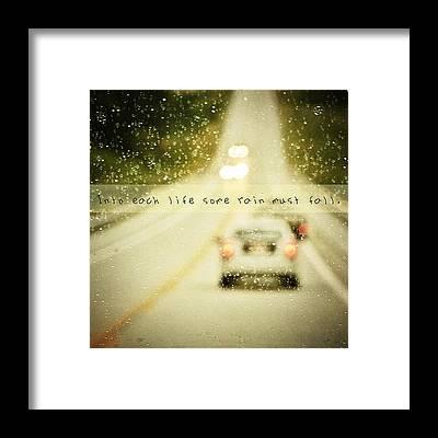Raindrops Framed Prints