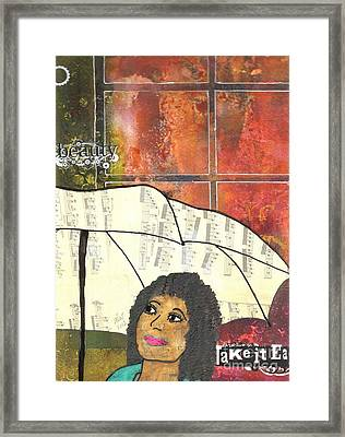 Into Every Life Some Rain Must Fall... Sing Anyway Framed Print