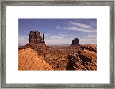 Into Monument Valley Framed Print by Andrew Soundarajan