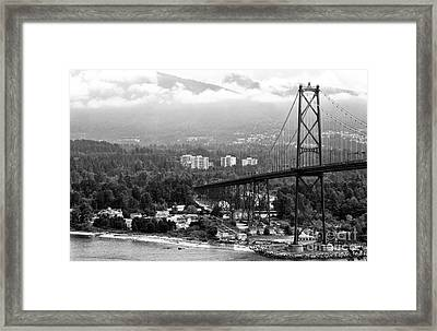 Into North Vancouver Mono Framed Print by John Rizzuto