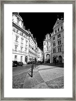Framed Print featuring the photograph Into Prague Old Town Square by John Rizzuto