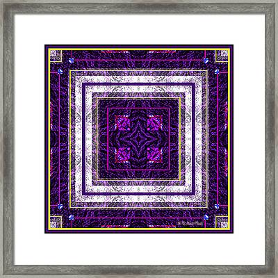 Framed Print featuring the photograph Into Purple by Barbara MacPhail