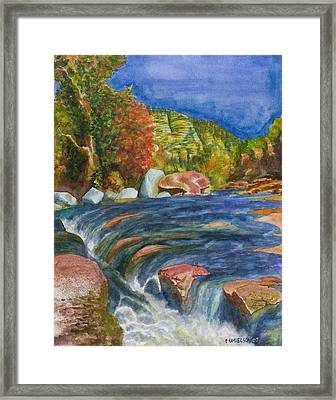 Into Slide Rock Framed Print