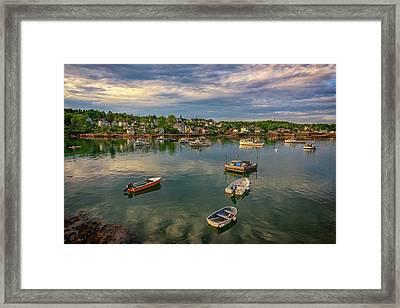Into Stonington Harbor Framed Print